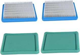 HIPA Pack-of-2 491588S Air Filter for Briggs and Stratton 491588 4915885 399959 Flat Air Cleaner Cartridge 3.5 to 6 HP Engine Lawn Mower w 271933 491435 493537 Pre Filter