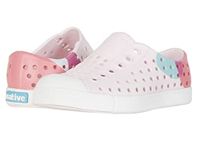 Native Kids Shoes Jefferson Block (Toddler/Little Kid) (Milk Pink/Shell White/Dot Black) Girls Shoes