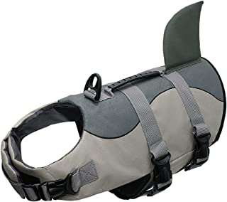 Dog Life Vest Jacket Shark Mermaid Shape Dog Surfing Clothes Safety Swimming Vest Swimwear for Medium Large Dog Pet S/M/L