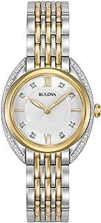 Bulova - Reloj Analógico para Mujer de Cuarzo con Correa en Acero Inoxidable 98R229