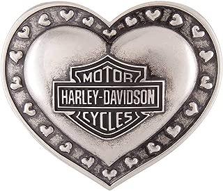 Women's Amor Heart Belt Buckle, Antique Nickel Silver HDWBU11664
