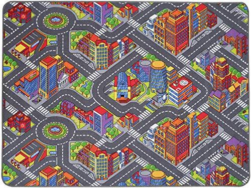 Tapis de Jeux Grande Ville 1,40m x 2,00m, Tapis Voiture Enfant   Tapis Circuit Voiture   Tapis de Jeu Enfant de Haute Qualité
