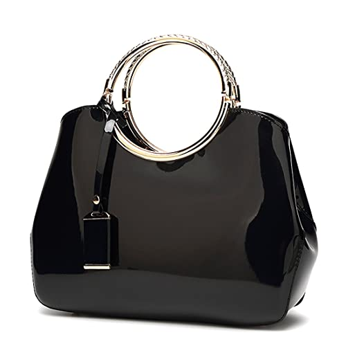1ab737fc945b Womens Handbags Ladies Top Handle Bags Patent Leather Stylish Tote Shoulder Bags  Purse