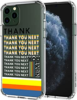 MOSNOVO iPhone 11 Pro Case, Thanks You Next Pattern Clear Design Transparent Plastic Hard Back Case with TPU Bumper Protective Case Cover for Apple iPhone 11 Pro (2019)