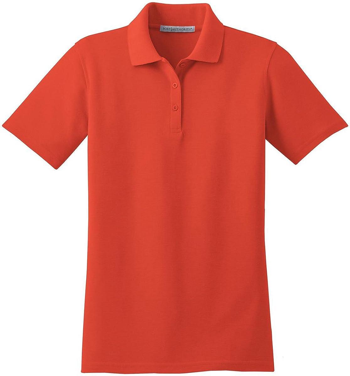 Port Authority Women's Stain Resistant Polo, Autumn Orange, Small