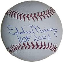 Eddie Murray Autographed Baltimore Orioles OML Baseball HOF JSA