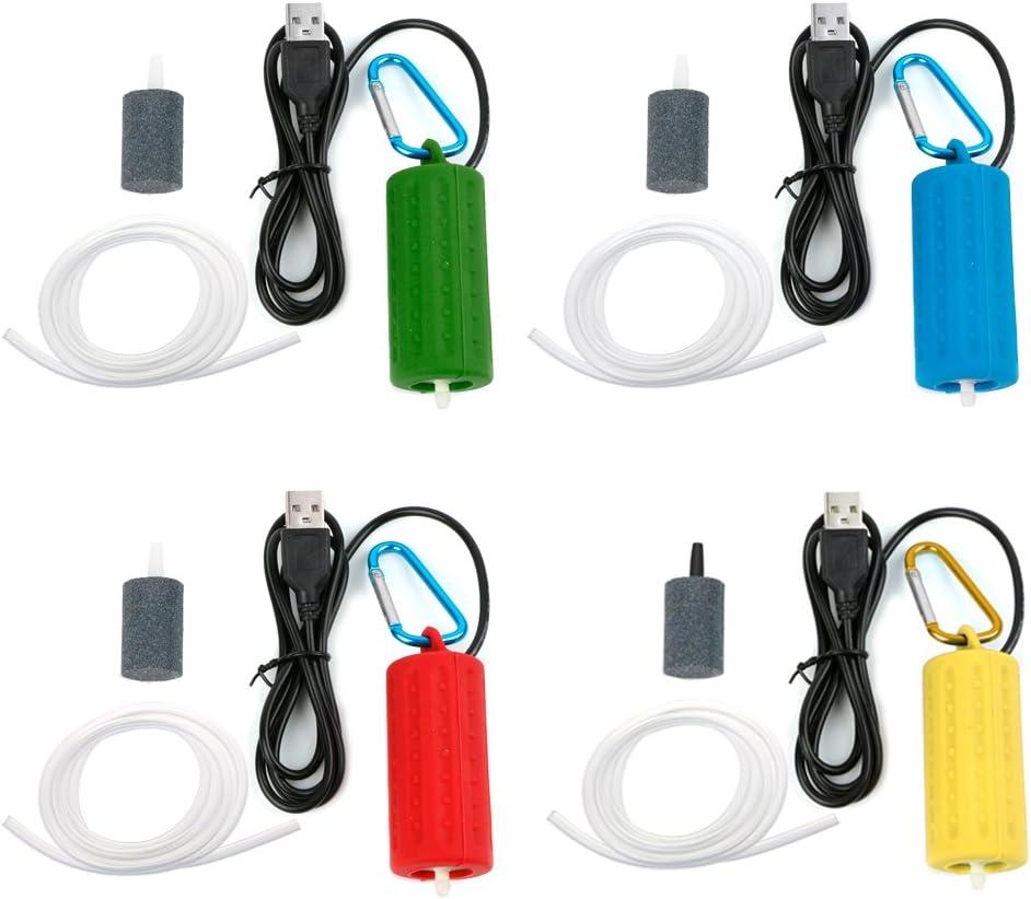 Blu USB Super Silent Air Pump per Acquario Fish Tank Xuniu Mini Oxygen Air Pump