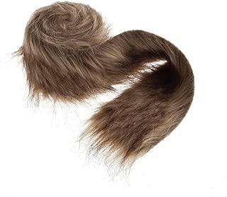 Floristrywarehouse Faux Fur Ribbon Trim 3 Inches x 6.6ft Roll Brown