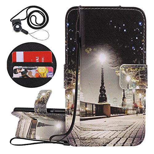 Coopay Custodia Samsung J5 2016 a Libro, Originale Scena Città Portafoglio Flip Cover per Samsung Galaxy J5 2016 (5.2 Pollici) in Pelle Artificiale Protettiva Rigida con Funzione di Supporto