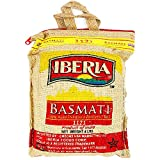 Iberia Basmati Rice, 4 Pound, Extra Long Grain, Naturally Aged Indian White Basmati Rice, Natural...