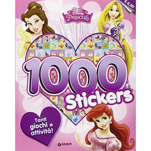 Disney princess. 1000 stickers. Con adesivi