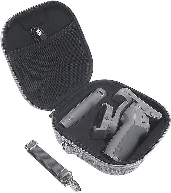 Eyglo Estuche Rígido para dji Osmo Mobile 3 Combo Kit - Estabilizador de 3 Ejes para Smartphone Estuche Protector Estuche de Viaje con Correa para el Hombro