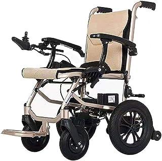 AMITD Silla De Ruedas Eléctrica,2 Baterías de Litio Extraíbles,Plegable Wheelchair Ligera De La A