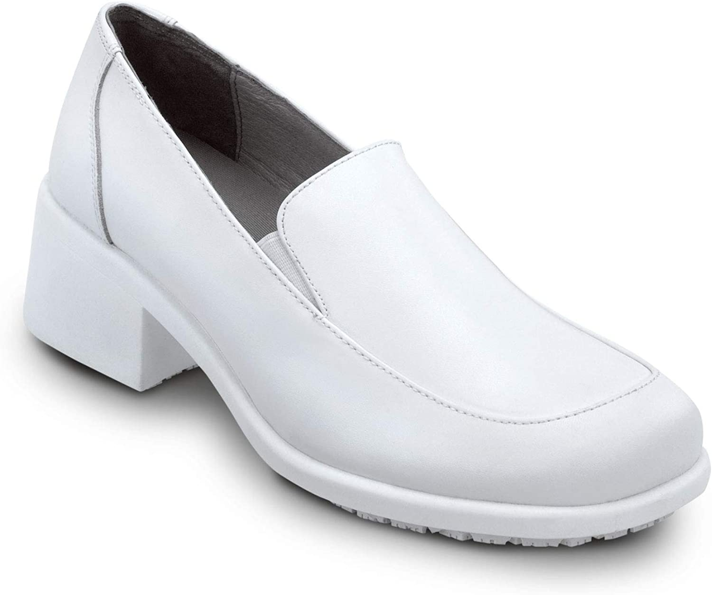 SR Max Venice, Women's, White, Twin Gore Dress Style Soft Toe Slip Resistant Work Shoe
