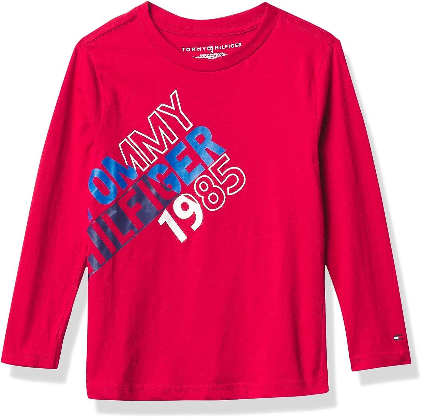 Tommy Hilfiger Boys' Long Sleeve Split Logo T-Shirt