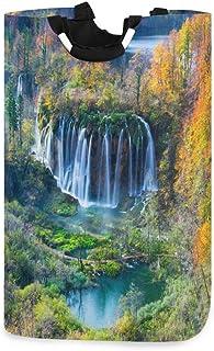 N\A Panier à Linge Grandes Cascades d'automne Panier à Linge en Arbre forestier Pliable avec poignées Paniers pour paniers...
