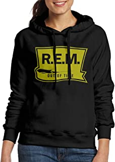 IcyHot Women's Sweater B0133CDUP8-Rem Out Of Time Rem Band Cool O-Neck Black
