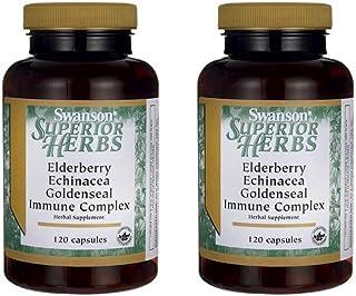 Swanson Elderberry Echinacea Goldenseal Complex 120 Caps 2 Pack