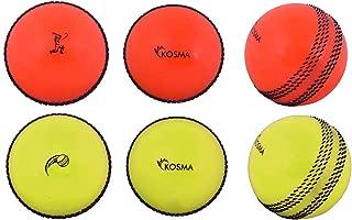 Kosma Lot de 4/Ensemble de Balle de Cricket PC 2PC /à Suspendre Boule de Cricket pour Pratiquer avec Cordon de r/éaction et 2PC Wind Boule