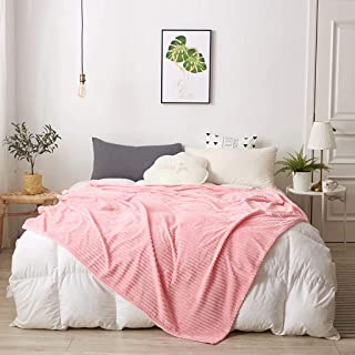 Blanket/Nepting Blanket, Bedding Fluffy Blanket, Autumn and Winter Warming Blanket, Living Room Bedroom Universal, Fale Velvet Blanket (Color:Pink, Size: 180 * 200 cm)