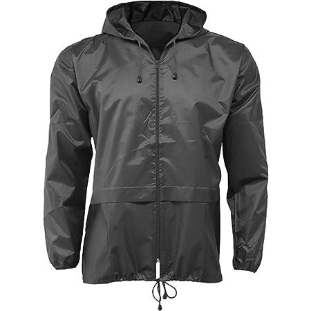 G5 APPAREL Lightweight Unisex Water Resistant Plain Kagool Jacket (Black, M)