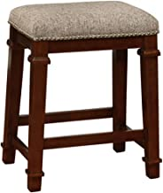 Linon Kennedy Backless Tweed, Brown Counter Stool,
