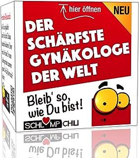 Schlump-ChiliDer schärfste Gynäkologe der Welt - Ein witziges Geschenk Set für den Frauenarzt. Eine coole Geschenkidee für Doktoren z.B. zum Geburtstag, Weihnachten oder als lustiges Dankeschön.