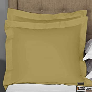 Breathable /& Smooth Feel eBeddy Linens Pillow sham Set of 2 White Solid 800 Thread Count Envelope Closure Pillow Cover Long Staple Silky Soft Natural Cotton Standard 20 x 26, White