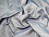 Baumwollstoff Chambray Denim, Meterware, Indigo-Blau