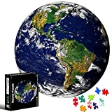 Puzzle Redondo 1000 piezas,Rompecabezas Redondo,Puzzle Adultos,Para Educativo El Alivio del Estrés Circular Desafío Intelectual Juegos Niños Adultos (Tierra)