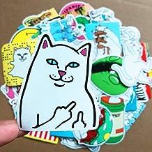 【ディアーアニマルズ】猫 ねこ ステッカー ねこシール 50枚セット インテリア おもしろ可愛いシールセット50P