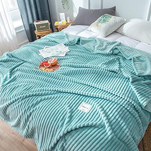Amosiwallart Mantas para Sofa, Mantas para Cama de Franela Reversible, Mantas Ligeras de 100% Microfibra - Fácil De Limpiar - Extra Suave Cálido -Cielo Azul_Los 70x100CM
