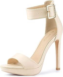 Women's Open Toe Platform Strap Stiletto Heel Sandals