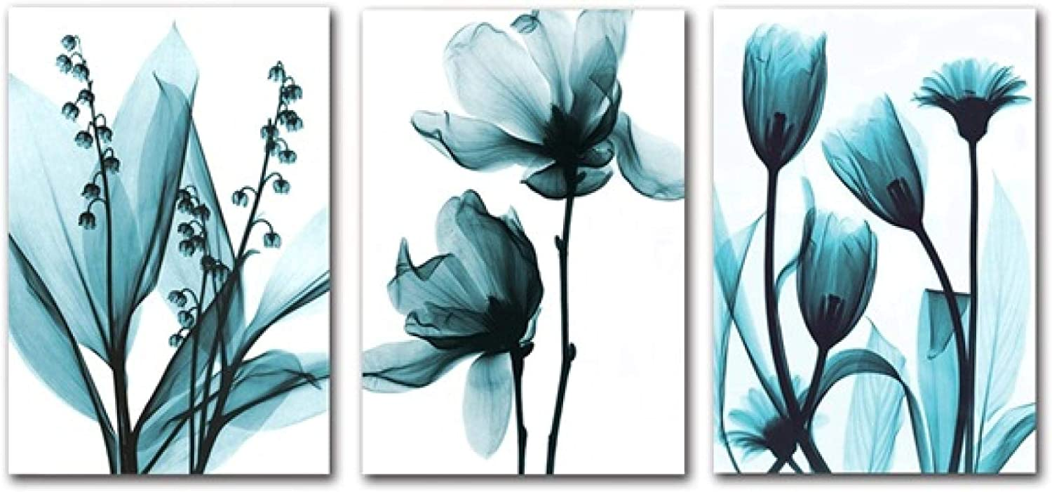 Sunsightly Print Tucson Mall on Canvas Nordic Blue Flowers Poster Gorgeous Floral Can