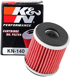 K&N Motorcycle Oil Filter: High Performance, Premium, Designed to be used with Synthetic or Conventional Oils: Fits Select...