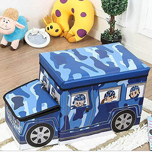 Children's Toy Storage Organiser, Foldable Nonwoven Storage Bench Large, Dress Up Stool for Christmas Creative Holiday Best Gift