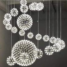 Ceiling Lighting, Modern Firework Pendant Lamp, Bar Kitchen LED Stainless Steel Ball Chandelier Ceiling Lamp [Energy Class...