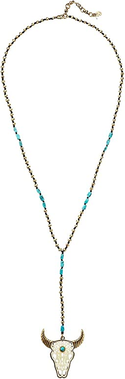 Lucky Brand - Bull Head Pendant Necklace