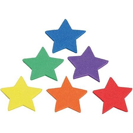 Fixo Figuras Adhesivas de Goma EVA, Colores Surtidos, Estrellas
