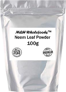 MQH WholefoodsTM - Polvo de hoja de neem (100 g, grado A),