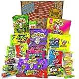 Heavenly Sweets Amerikanische Saure Süßigkeiten Geschenkbox - Warheads, Trolli, Laffy Taffy,...