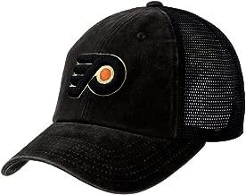 American Needle Raglan Bones NHL Mesh Strapback Hat, Philadelphia Flyers, Black (41152A-PHF)