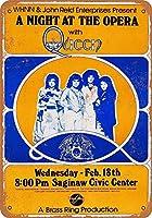 ノベルティサインギフト、1976クイーンサギノーのオペラ座での夜ヴィンテージレトロティンサインホームワークショップマンケイブバーヴィンテージルック複製金属サイン家の壁アート装飾