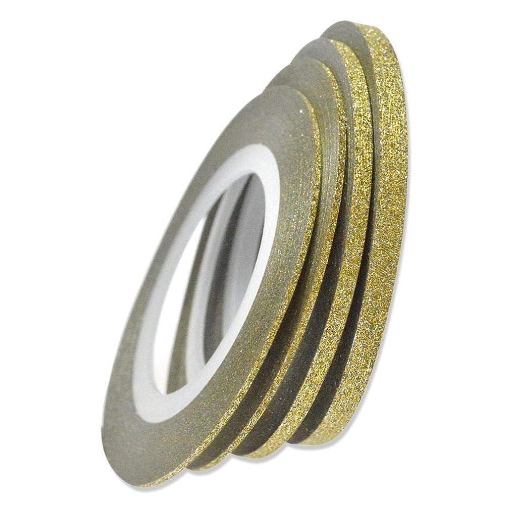 大きさ悲しむ歩行者SUKTI&XIAO ネイルステッカー 1ロールネイルアートキラキラストライピングテープラインレーザーシャイニングゴールド/シルバー1/2 / 3Mm新しいネイル転写箔ステッカー、3Mmゴールド