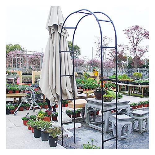 GEREP Arco de Rosas Arco para Enredaderas, Pérgola, Jardín, para Plantas Trepadoras, Resistente a la Intemperie, Decoración de Jardín/Negro / W120×H220cm