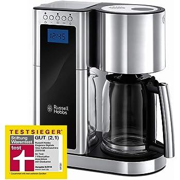 Russell Hobbs Legacy - Cafetera de Goteo (Jarra Cafetera para 10 Tazas, 1000 W, Digital, Inox, Rojo) - ref. 20682-56: Amazon.es: Hogar