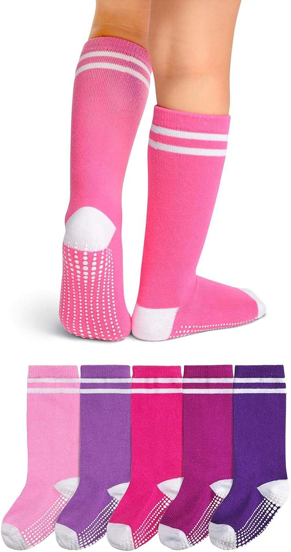 LA Active Knee High Grip Socks - Cozy Warm Socks - Baby Toddler Infant Kids