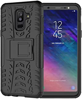 Olixar for Samsung Galaxy A6 Plus 2018 Protective Case - Tough Armour - Heavy Duty Cover - ArmourDillo - Built in Stand - Wireless Charging Compatible - Black
