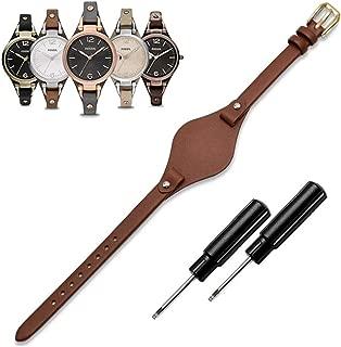 Women's 8mm Watch Band Genuine Calf Leather Replacement Fossil Straps Watch Strap for ES3148 ES4119 ES4176 ES3262 ES3077