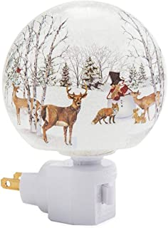 Wind & Weather Handcrafted Glass Woodland Holiday Night Light